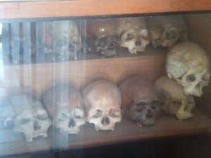 Khmer Rouge victims' skulls