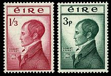 Robert Emmet Irish postage stamps