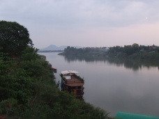Laos, downstream of the Xayaburi Dam where the Mekong and Xe Don Rivers meet at Pakse