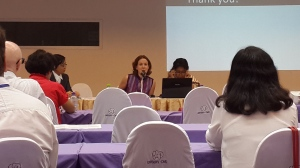 Discussants Derina Johnson and Dr Daw Khin Mar Mar Kyi at the International Conference of Burma/Myanmar Studies, Chiang Mai
