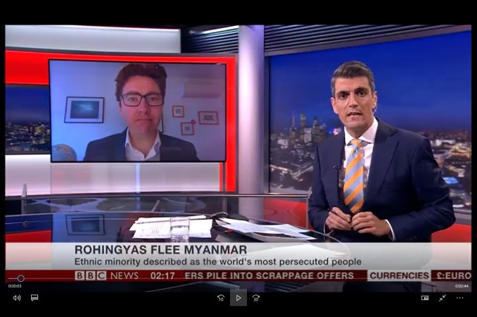 BBC World News interview  Rohingyas flee Myanmar | Dr Ronan Lee